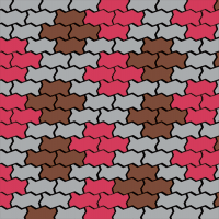 Схема замощення бруківкою Хвилька