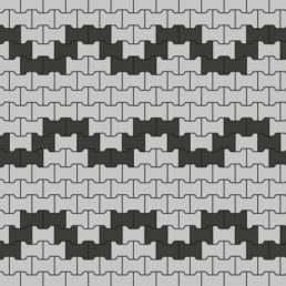 схема замощення Бруківки Подвійне Т