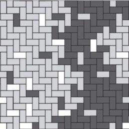 Схема укладання Бруківка Цеглина Галицька